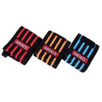 спортивные нарукавные повязки оптовых-Sports Wristband Gym Wrist Straps Fitness Weight Lifting Training Hand Bands Bracers