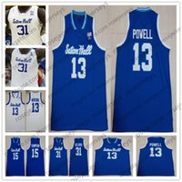 Wholesale 31 basketball for sale - Group buy Custom Seton Hall College Basketball Blue White Jersey Powell Nzei Quincy McKnight Myles Cale Angel Delgado Men Youth Kid