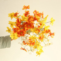 Wholesale cosmos flowers for sale - Group buy Artificial Flowers Fake Cosmos Flowers Small Daisy Home Decoration Living Room Display Flower Wedding Decor WZW YW3680