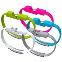 pulseiras de pulso usb venda por atacado-Para samsung s10 tipo c cabo usb 20 cm pulseira de pulso micro usb cabos para s6 s7 edge s8 s9 htc android telefone