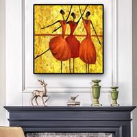 ballettplatte kunst großhandel-1 Stücke Abstrakte Ballett Tänzerin Ölgemälde auf Leinwand Poster und Drucke Skandinavischen Nordic Wandkunst Bild für Wohnzimmer Kein Rahmen