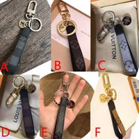 Wholesale new keychain designs resale online - 2019 new brand design leather key chain bag hanging ornaments birthday gift with original packaging keychain