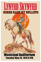 Wholesale one bullet resale online - Lynyrd Skynyrd Gimme Back my Bullets with Robert E Lee Concert wall decor Art Silk Print Poster