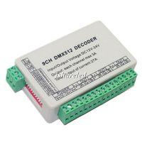 dmx512 decoder dmx led kontrolör toptan satış-9CH dmx512 dekoder LED Kontrol 9 kanal dmx 512 sönük sürücü 9 * 3A WS-DMX-9CH