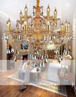 cristal violet achat en gros de-Candelabro modern crystal lustres crystal decoración Tiffany colgantes et candelabros iluminación del hogar lámpara de interior