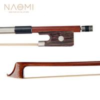 ingrosso strumento violoncello-Arco NAOMI 4/4 per violoncello arco in legno per violoncello 4/4 per principianti di studenti Strumenti per violino per principianti Nuovo