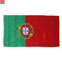 Wholesale portugal flags for sale - Group buy Digital printing Portugal Flag x cm Polyester National Country Flag Banner with two grommets