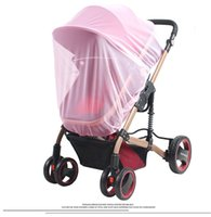 Wholesale crib accessories resale online - 6 Colors Baby Stroller mosquito net cm square Pushchair Mosquito Insect Shield Net Protection Mesh Buggy Cover Stroller Accessories