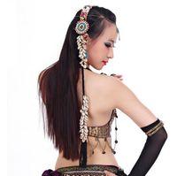 ingrosso fasce di nappa per le donne-Copricapo di modo della treccia di modo della treccia della fascia della testa della testa della testa di zingara della fascia di costume di ballo di pancia delle donne Commercio all'ingrosso 10pcs / lot
