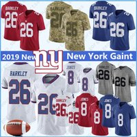 ingrosso punto di jersey di calcio-8 Daniel Jones 26 Saquon Barkley New Jersey York 10 Eli Manning Giant 15 Brandon Marshall Collins Sterling Shepard cucita maglie top