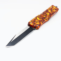 Wholesale skull self defense for sale - Group buy MTautoTF troodotfn A16 orange skull models double action tactical camping hunting folding fixed blade knives xmas gift knife bm40