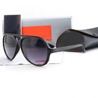 victoria beckham mujer gafas de sol al por mayor-2019 unisex gafas de sol deportivas hombres de las mujeres unisex UV400 Gafas de sol de espejo piloto Gafas Gafas de conducción femenino 4125