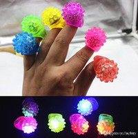 Wholesale rave party supplies resale online - Flashing Bubble Strawberry Ring Rave Party Blinking Soft Jelly Glow Hot Selling Cool Led Light Up
