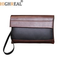 Wholesale wristlet pouch for sale - Group buy New Men Envelope Bags Large Capacity Zipper Mens Clutches Wristlet Purse Handbag Elegant Evening Bag Mobile Pouch
