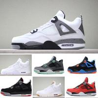 best service 8f433 f1aea Nike air jordan 4 retro basketball shoes Scarpe firmate designer shoes 4 4s  mens trainers Pure Money Royalty Scarpe uomo marca Cemento nero Scarpe uomo  ...