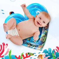 Wholesale baby games play resale online - Baby Tummy Time Children Patted Pad Water Cushion Inflatable Water Filled Play Mat For Creativity Game