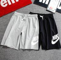 pantalones cortos al por mayor-2019 pantalones cortos de estilo nuevo, pantalones cortos para hombre de moda europea y americana, pantalones casuales de verano