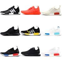 en iyi r1 toptan satış-Adidas NMD R1 Üçlü siyah Beyaz tasarımcı Erkekler Kadınlar Için koşu ayakkabıları og 2017 yayın atmos_black Koşucu Spor sneakers 36-45