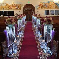 araña de cristal de mesa al por mayor-Venta por Bulk Sparkling Crystal clear guirnalda araña boda pastel de pie fiesta de cumpleaños suministros decoraciones para mesa centros de mesa