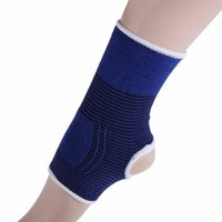 zapatos de soporte de tobillo al por mayor-2 unids Elastic Knitted Ankle Brace Support Band Sports Gym Protege Terapia Baloncesto Balompié Zapatos de fútbol Protector de tobillo al por mayor # 527923