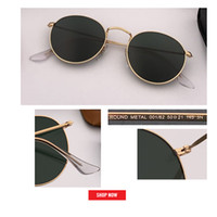 Wholesale red reflective lens sunglasses for sale - Group buy new Retro classical metal circle sunglasses round style mirrored pink gafas matt gold frame reflective lens women fashion mm UV400 lens