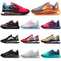 zapatillas grises rojas al por mayor-2019 nike air max 720 zapatillas deportivas para hombre mujer Be True Pride Volt Gym rojo SEA FOREST zapatillas de deporte para hombre zapatillas deportivas para correr