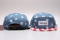 Wholesale panel hats diamond for sale - camo panel snapback baseball cap hip hop strapback diamond supply co men summer winter spring outdoor hats bone aba reta toca