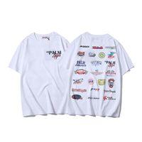 Wholesale tshirt long hip hop for sale - Group buy 19SS Palm Angels TShirt Full Logo Print Cotton T Shirts Men Women Streetwear Hip Hop Top Tees Palm Angels T shirt