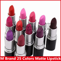 Wholesale english lipsticks for sale - Group buy hot matte Lipstick M Makeup Luster Retro Lipsticks Frost Sexy Matte Lipsticks g colors lipsticks with English Name