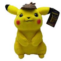 ingrosso roba del anime trasporto libero-Pikachu all'ingrosso Peluche 11 pollici Anime Cartoon Movie Pikachu Peluche Ripiene Doll Giocattolo per bambini Regalo di compleanno per bambini Spedizione gratuita veloce