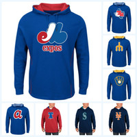 Wholesale baseball jersey hoodie resale online - Montreal Expos New stly Baseball Hoodies Baltimore New York Baseall Jersey Customized Any Name Any Number