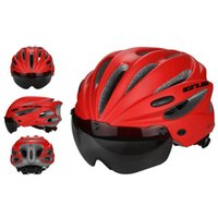 bisiklet kaskları kadınlar toptan satış-Gub K80 Artı Kaskları Adsorpsiyon Mıknatıs Gözlük Ile Entegral Kalıplı Mtb Yol Bisikleti Kap Erkekler Güvenli Kadınlar Bisiklet Kask