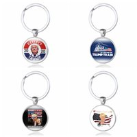 Wholesale keychain making resale online - Donald Trump Keychain Keep Make America Great Stainless Steel Trump Tag Key Ring Pendant Christmas Party Favor TTA1990
