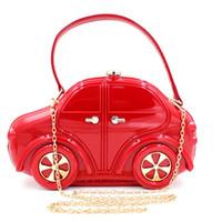 дизайн детских автомобилей оптовых-Дизайнер-Hot Brand Design Детский сад Boy Girl Вечерние сумки Автомобильная акриловая клатч Детские сумки Tote Kids Cartoon Travel Bag - RQC