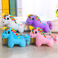Wholesale wedding plush toys for sale - Group buy Plush Toys Korean Edition Lovely Cartoon Unicorn Key Buckle Many Colour Creative Mobile Phone Pendant Wedding Activity Giveaways jy p1