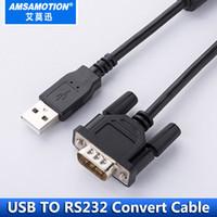 rs232 pinos venda por atacado-USB para RS232 Porta Serial DB9 Adaptador de Cabo USB RS232 Converter Cabo Cabo de Grau Industrial Com Proteção do Anel Magnético
