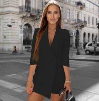 tasarımcı bayan ceketleri toptan satış-Bayanlar Suit 2020 Tasarımcı Sonbahar ve Kış Yeni Sıcak Kadın Ceket Tulum Bayanlar Seksi Jumpsuit Kış Lüks Tabanı Vahşi Siyah Beyaz
