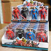 pakete großhandel-The Avengers Supper Hero Puppenspielzeug 11CM Inklusive Farbbox Verpackung 24er Pack Marvel Hero Puppe