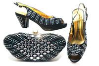 zapatos de estilo italiano de las mujeres al por mayor-2019 zapatos y bolsos para mujer, conjuntos africanos, zapatos y bolsos italianos de alta calidad a juego para damas zapatos de estilo nigeriano del partido africano