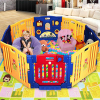 Wholesale New Panel Large Foldable Baby Kids Play pens Playpen Room Divider Educational Toys