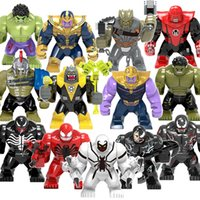 Wholesale toy blocks for sale - Group buy 12 Styles The Avengers Super hero Action Figures cm Building Blocks Marvel hero Thanos Hulk Venom Thor blocks kids favorite toy