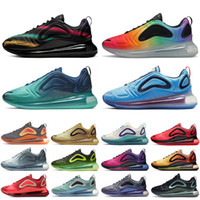 Wholesale shoes box china resale online - Bset Selling OG Triple Black BE TRUE Sunset Men Designer Shoes China Space Black Neon Streaks Womens Running Sneakers Sport Trainers