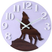 Wholesale decorative wall night lights resale online - Wall Clock Night Light Function Inch Silent Non Ticking Quartz Decorative Battery Operated For Indoor Office Home Kitchen B