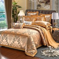 Wholesale 3d satin bedding set for sale - Group buy 2019 new fashion xmx230cm x240cm sheets Cotton satin jacquard plain bedding set bedding embroidery badge quilt cover sheets