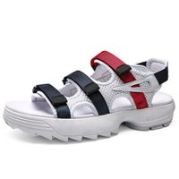 Wholesale mesh sandals for men resale online - sandals casual shoes for men women summer designer black white red outdoor Anti slipping Quick drying Soft Water Shoe size