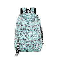 Wholesale travel backpacks resale online - Women Unicorn Flamingo Backpack Cartoon school bag Teenagers Girls Shoulder bags Cartoon Rainbow Horse backpacks Outdoor Travel Bags LJJV436