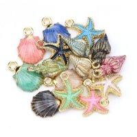 Wholesale ocean decor for sale - Group buy 15 PC A Fashion Metal Alloy Ocean Shell Christmas Charm Decor Set Pendant Drop Ornaments Hanging DIY Decoration