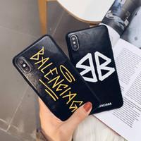 capa designer para telefones venda por atacado-Ba marca designer phone case tpu capa colorida para iphone x xres max 6 6s plus 7 8 tampa traseira para a apple