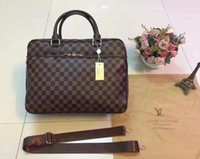 Wholesale tote office for sale - Group buy 2019 NEW STYLE FWLOUIS VUITTON laptop bag Office bag MICHAEL KOR briefcase business package LOUIS tote fashion mens messenger package bag
