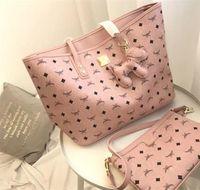 hochwertige markenhandtaschen großhandel-Rosa Sugao Marke Brief Handtasche Zwei Pcs Set Hohe Qualität für Mädchen Frauen Handtaschen Umhängetaschen 3 Farbe Verfügbar Hot Brand Bag Berühmten Stil